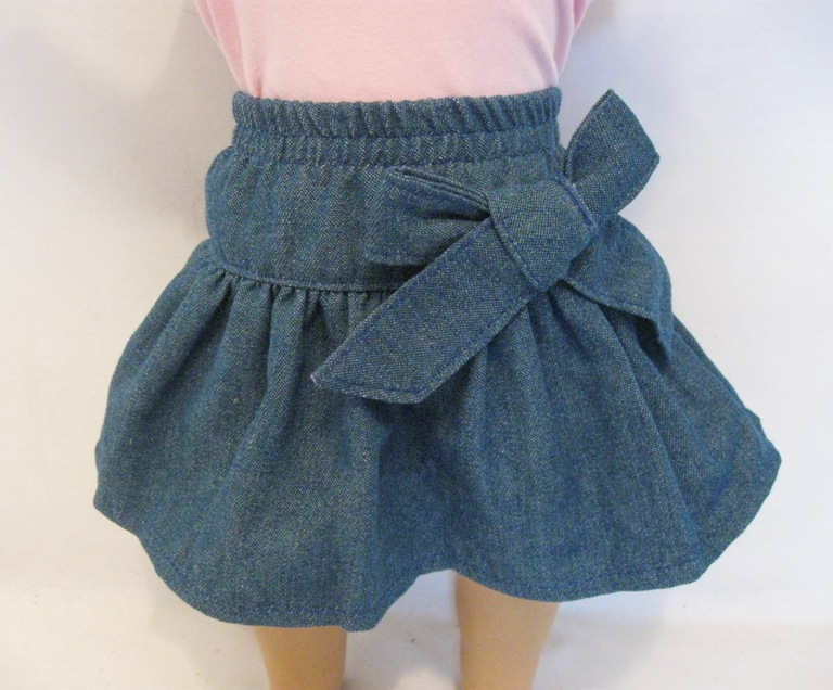 OFFER Gathered Denim Skirt