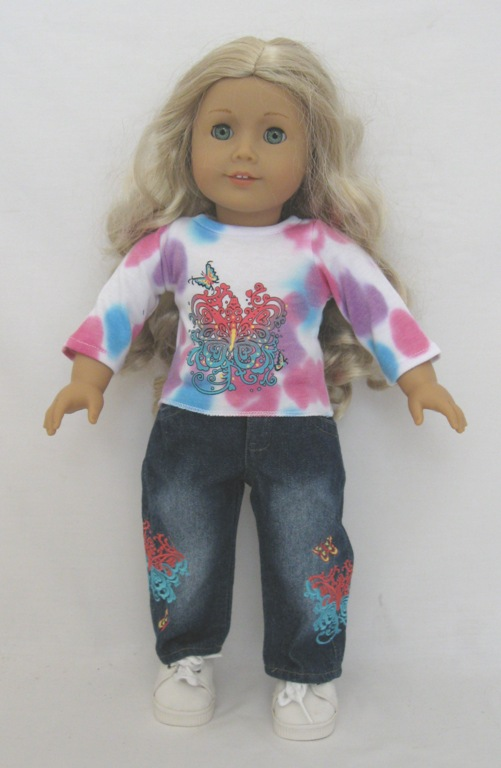 Box Of 100 Tye Dye Jean Set