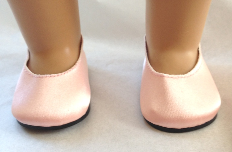 Light Peach Pink Satin Slip-Ons