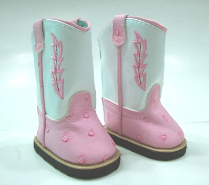 Pink and White Cowboy Boots