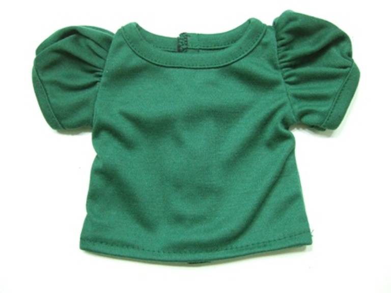 Army Green Puff Sleeve T-Shirt