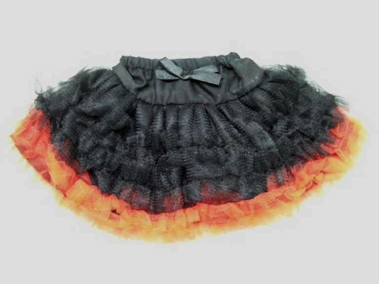 Orange and Black Can Can Skirt