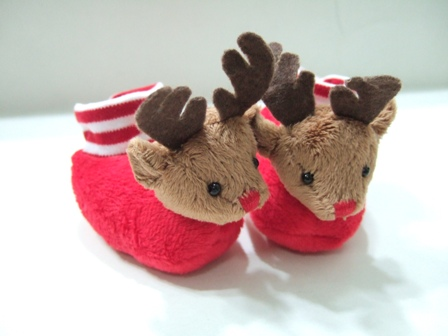 Reindeer Head Slippers