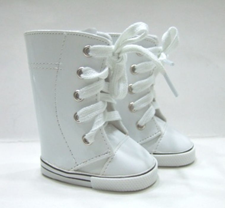 White Knee High Sneaker Boot