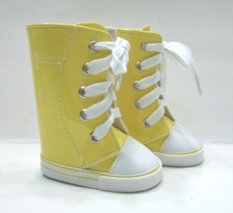 OFFER Tall Yellow Vinyl Sneeker Boot
