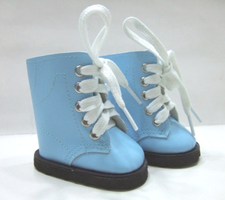 Blue Lace Up Boots