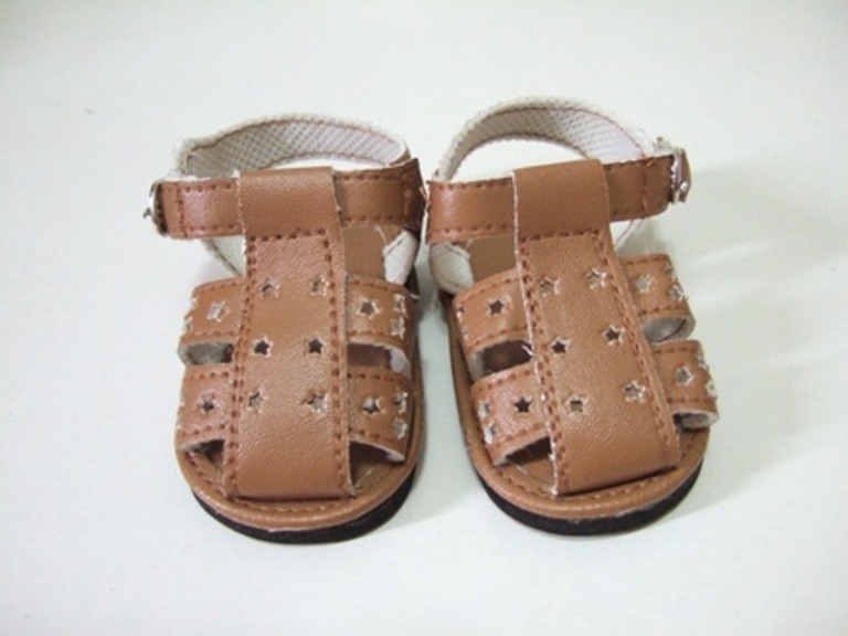 Brown Star Cut Fisherman's Sandles