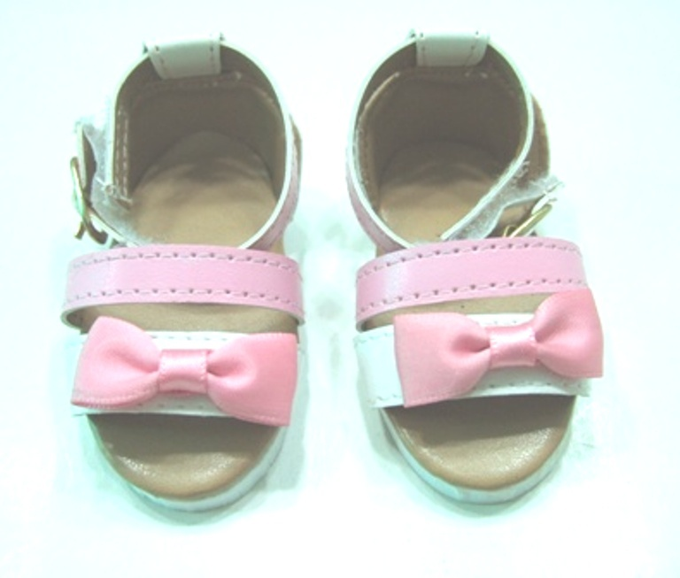 Pink and White Strap Sandal