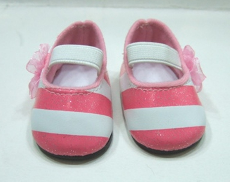 Sparkle Pink and White Shoes