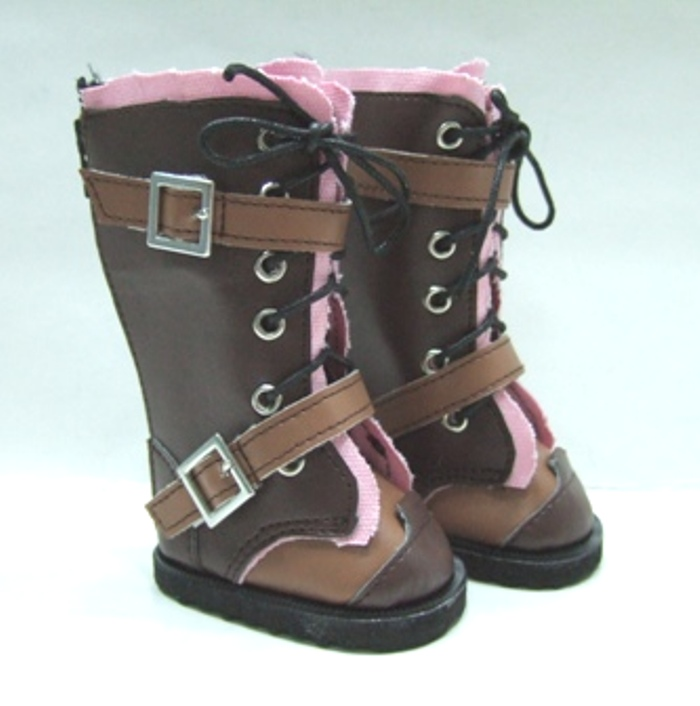 Pink and Brown Boots