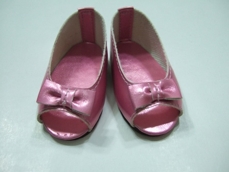 Pink Matallic Open Toed Shoes