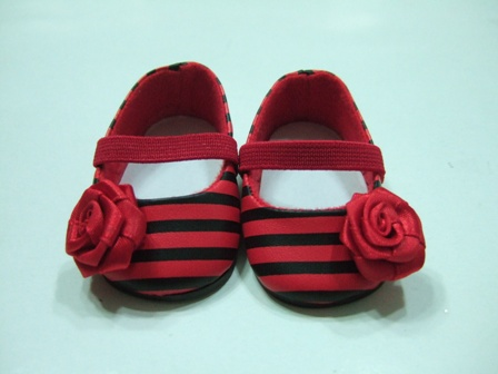 Red and Black Stripe Shoes