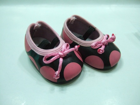 Pink Poka Dot Shoes