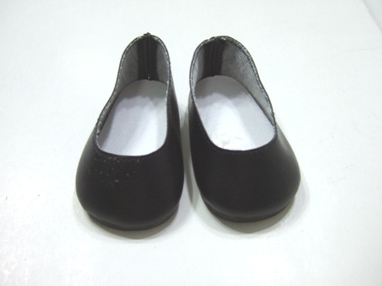 Black Matt Slip-Ons /