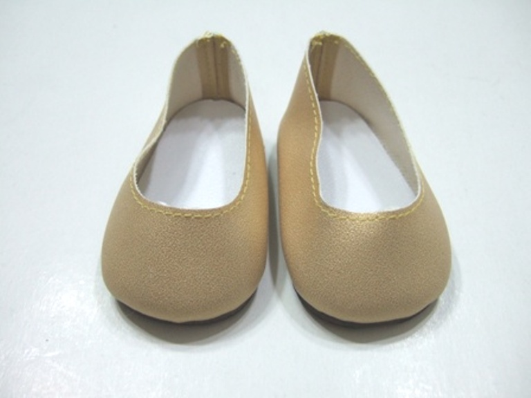 Gold Matt Slip-Ons/