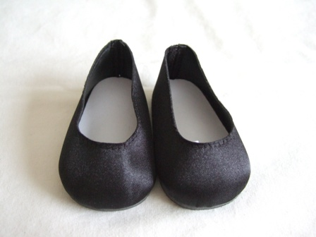 Black Satin Slip-Ons/