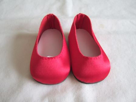 Red Satin Slip-Ons /