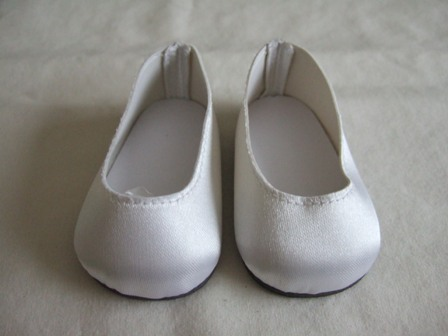 White Satin Slip-Ons /