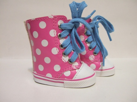 Pink Dot Vinyl Tennis Shoes
