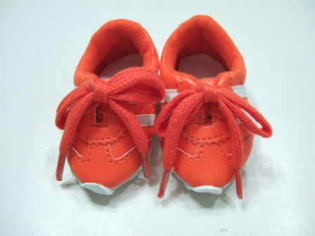 OFFER Orange Leather Look Tennis Shoe /