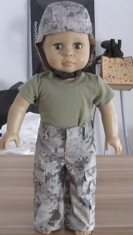 Camaflage G. I. Jane Army Outfit