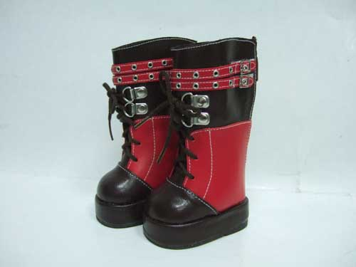 Tall Black And Red Boots