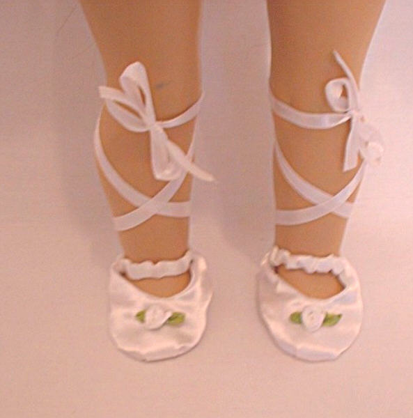 White Rosebud Ballet Slippers /White Rose