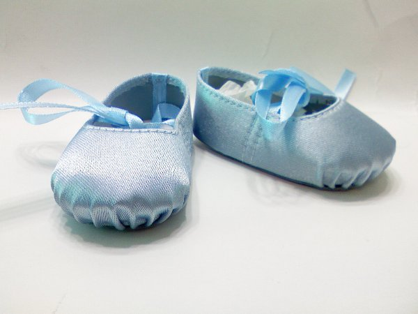 Blue Hard Toe Ballerina Slippers