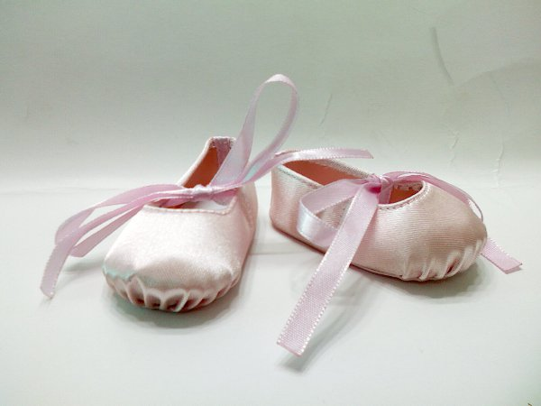 Pink Hard Toe Ballerina Slippers/