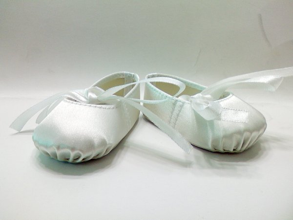 White Hard Toe Ballerina Slippers