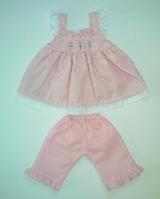 "15"" Pink Dress and Pant Set"