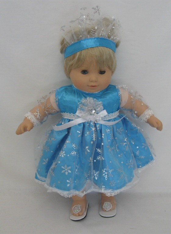 "15"" Baby Turquoise Elsa Dress"