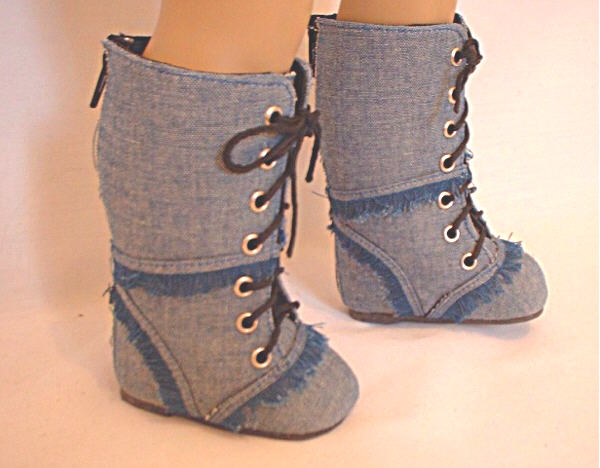 Light Denim Boots /