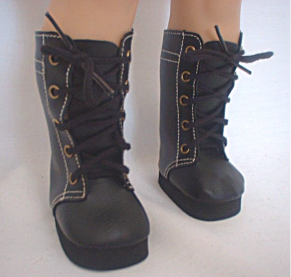 Black High Lace Boots /