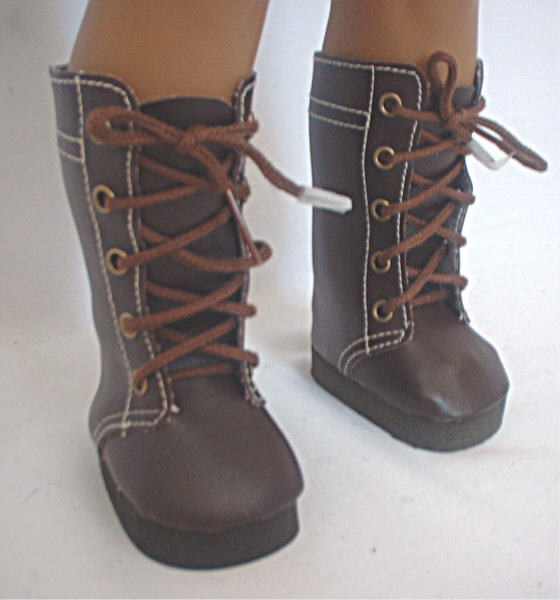 Brown High Lace Boots