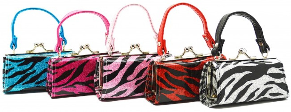 OFFER Red Zebra Print Purse
