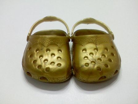 Gold Garden Clogs /