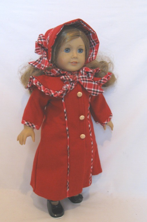 Red and Plaid Victorian Coat and Dress Set