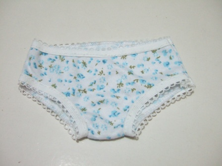 Light Blue Floral Low Rise Underpants