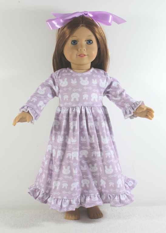 Lavender Cotton Ruffled Nightie