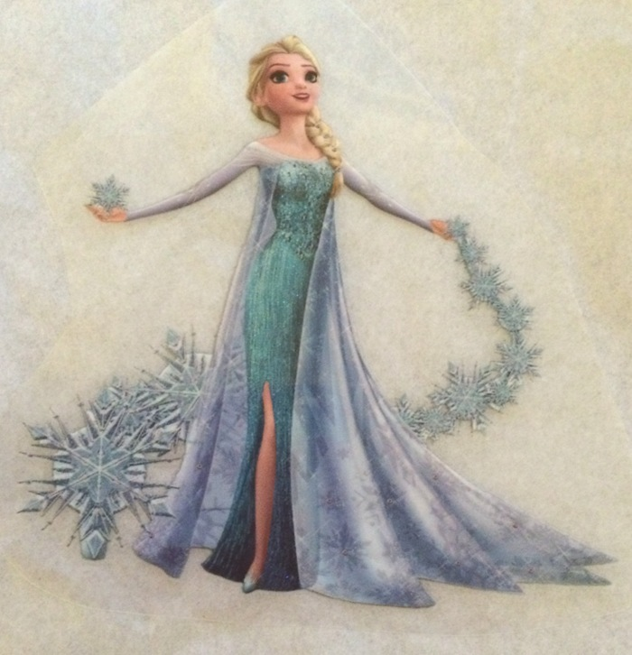 Elsa In Blue Gown Iron On