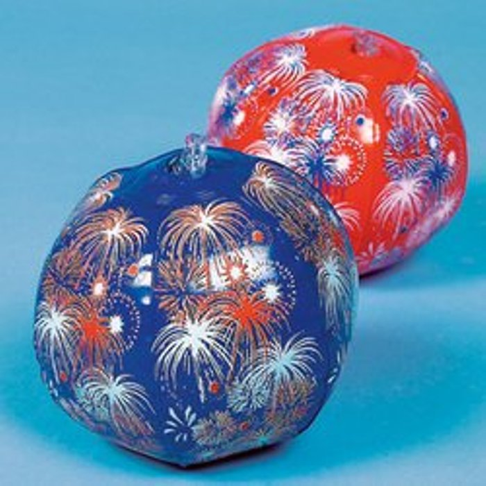 Patriotic Fireworks Beach Ball