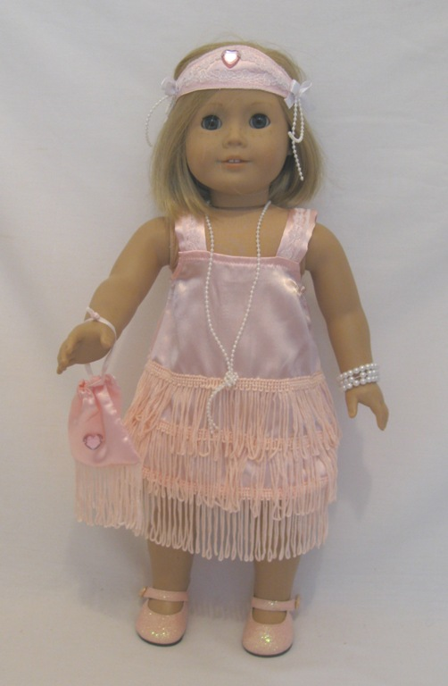 Pink Satin Flapper Dress