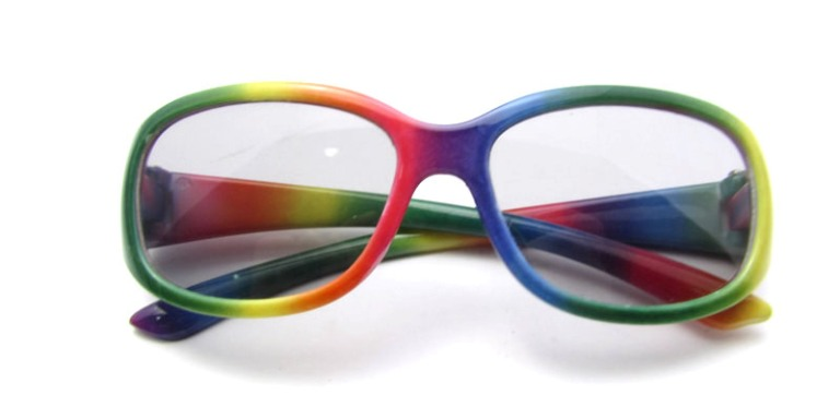 Rainbow Frame Sun Glasses