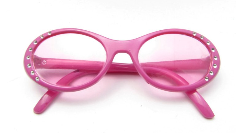 Pink Bling Frame Glasses