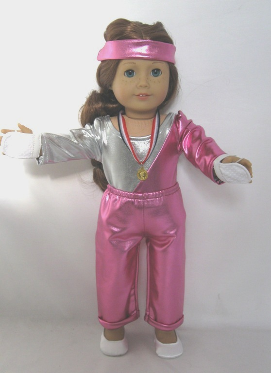 Pink and Silver Gymnastics Set