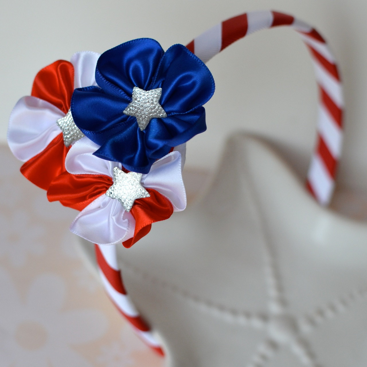 Red White and Blue Head Band