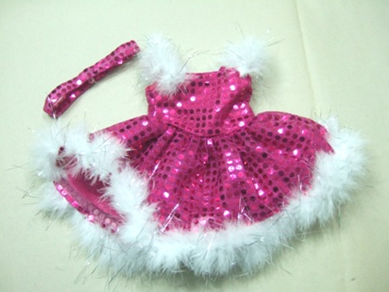 Hot Pink Sparkly Dance Dress