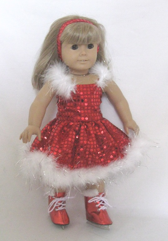 Box Red Sparkly Dance Dress