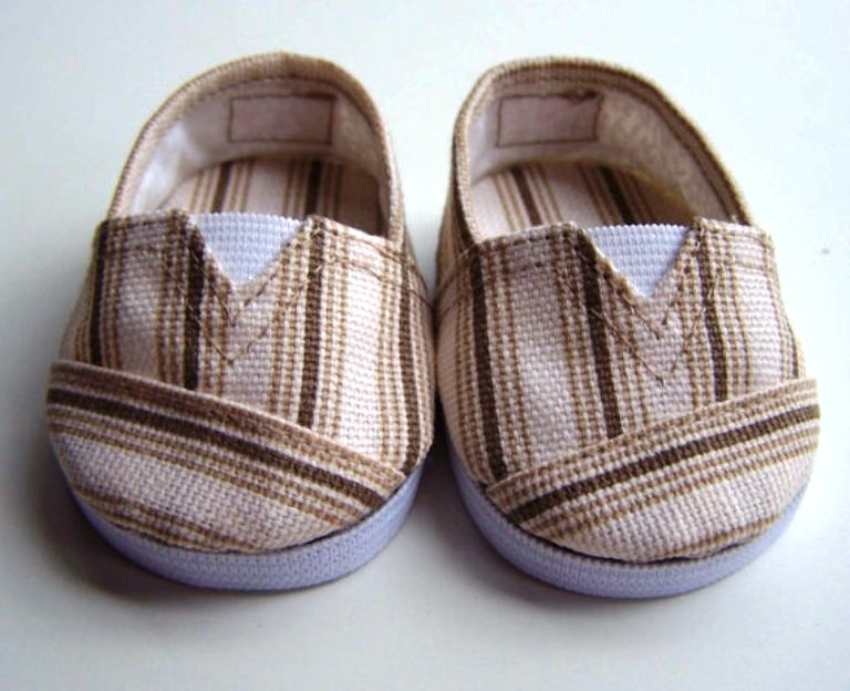 Brown Striped Canvbas Tpmz